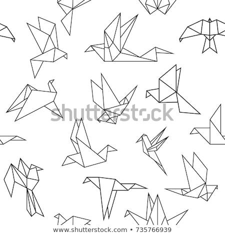 Origami madarak terv háttér madár férfiak Stock fotó © logoff