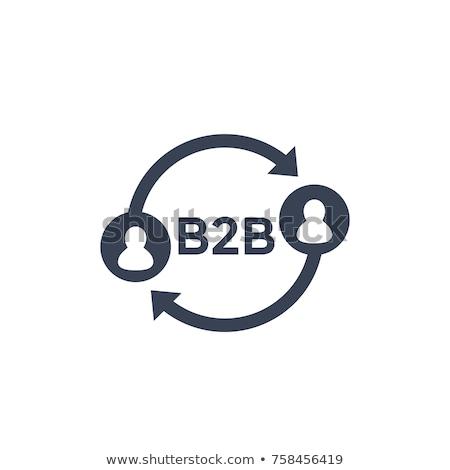 B2b woord puzzel achtergrond corporate kleur Stockfoto © fuzzbones0