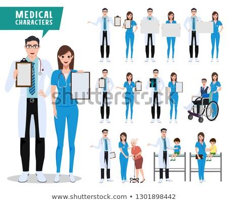 Doctors With Whiteboard Set stock photo © Voysla