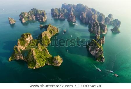 Вьетнам · лодках · пейзаж · азиатских · тропические · Азии - Сток-фото © bezikus