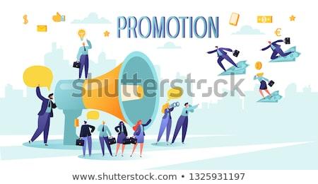 Businessman promotion Stock photo © alphaspirit