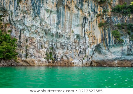 Arenito arco lago rochas Michigan Foto stock © wildnerdpix