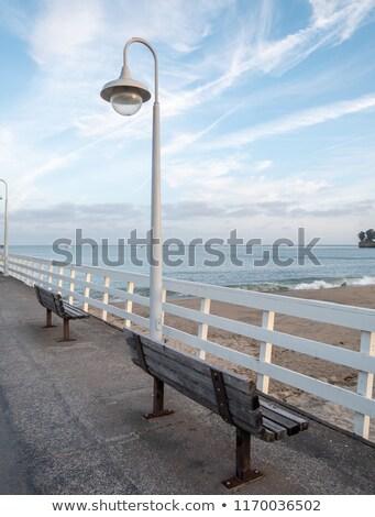 2 · 海 · カリフォルニア · 桟橋 · 長い · 水 - ストックフォト © emattil