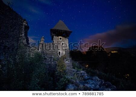 castello · rovine · erba · blu · architettura · cultura - foto d'archivio © artfotoss