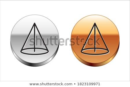 Stock photo: Graph Golden Vector Icon Button