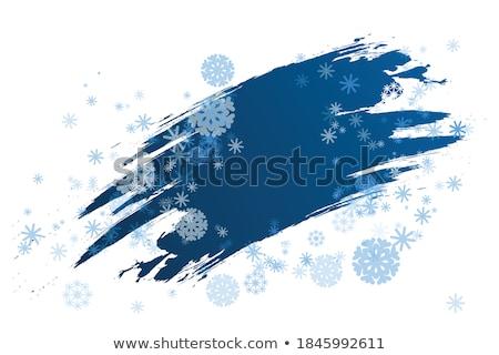 заморожены окна текстуры облака снега льда Сток-фото © Bananna