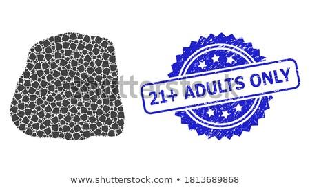 Stockfoto: Stempel · tekst · teken · silhouet · erotische · stijl