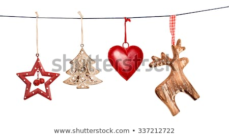 christmas · houten · sneeuw · decoratie · top - stockfoto © -baks-