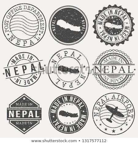 Nepal ülke bayrak harita biçim metin Stok fotoğraf © tony4urban