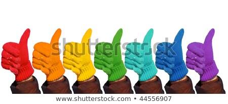kezek · szivárvány · kesztyű · előadás · kézmozdulat · ok - stock fotó © Paha_L