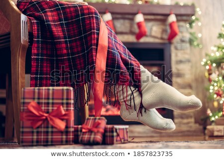 inverno · família · um · em · mão · sorrir - foto stock © Paha_L