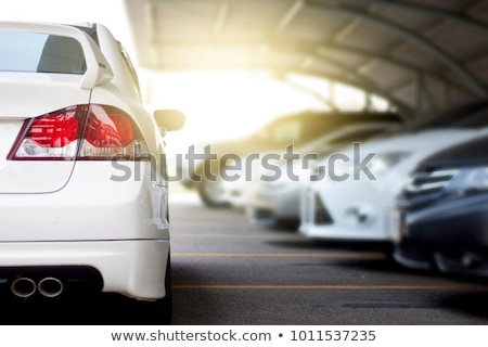 Stock photo: cars on parking