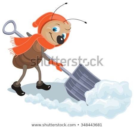 アリ 雪 シャベル クリアランス 実例 ベクトル ストックフォト © orensila