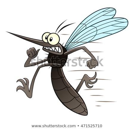 蚊 · スプレー · 口 · 翼 · 漫画 · 昆虫 - ストックフォト © adrenalina