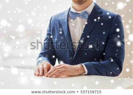 человека костюм таблице люди гей Сток-фото © dolgachov
