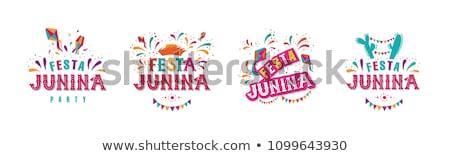 Carnaval logotipo emblema templates gráfico banners Foto stock © netkov1