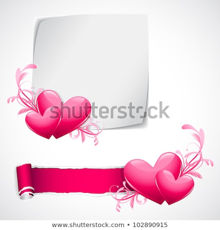 Happy Valentines Day Torn Paper Concept Stock photo © ivelin