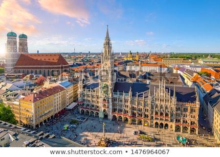 Városháza München Németország város utca templom Stock fotó © vladacanon