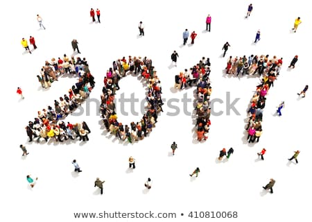 3d people and happy new year 2017 stock photo © nasirkhan