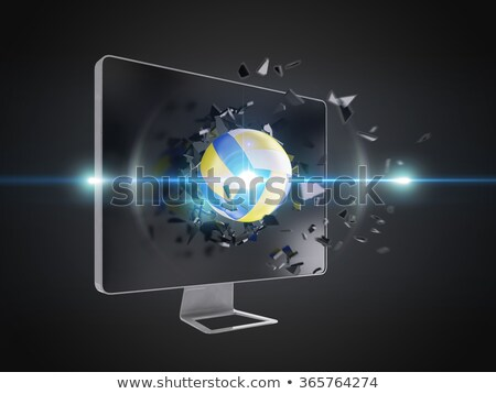 volleyball destroy computer screen. Stock photo © teerawit
