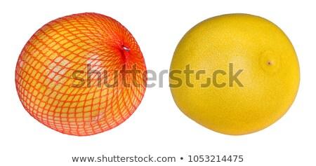 Two pomelos fruit packed isolated on white background. Stock photo © Leonardi