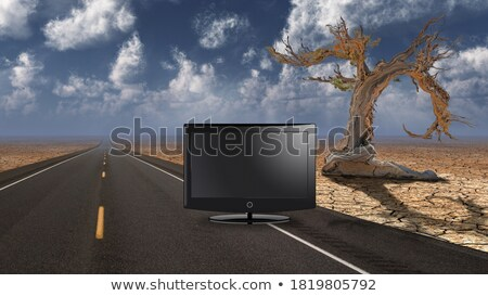 3D widescreen render of surreal landscape Stock photo © kjpargeter