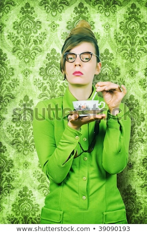 Stern lady at teatime Stock photo © Shevs