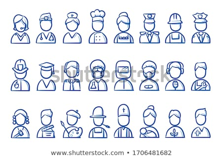 A simple sketch of a pilot Stock photo © bluering