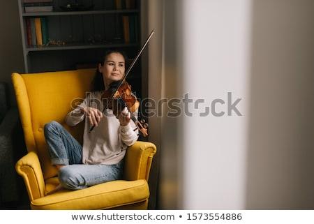 Cselló játékos játszik fotó gyönyörű nő koncert Stock fotó © sumners