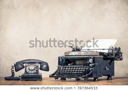 Vintage negro teléfono aislado blanco retro Foto stock © pakete