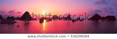 pink and purple bay sunset stock photo © yhelfman