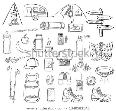 Hiking pole sketch icon. Stock photo © RAStudio