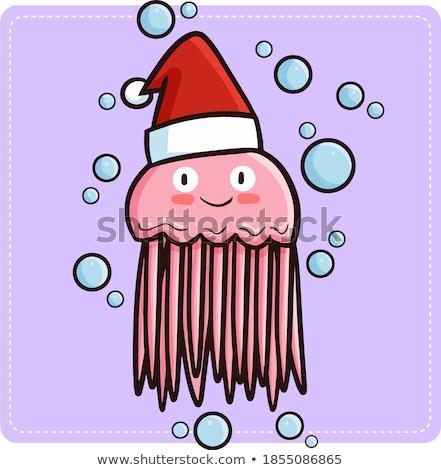 Meduza karácsony illusztráció víz rajz akvárium Stock fotó © adrenalina