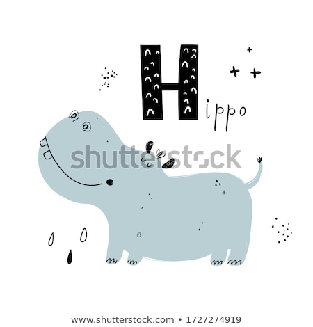 Flashcard letter H is for happy Stock photo © bluering