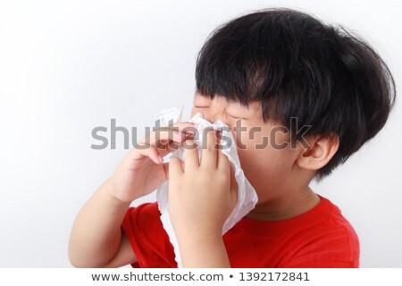 Сток-фото: мальчика · холодно · белый · лице · глазах