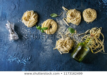 Homemade pasta, semolina flour Stock photo © Peteer