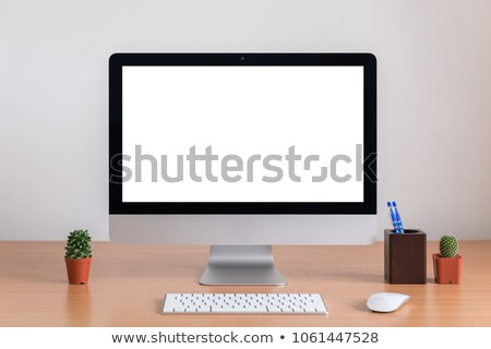 Modern all-in-one computer isolated on white background Stock photo © manaemedia