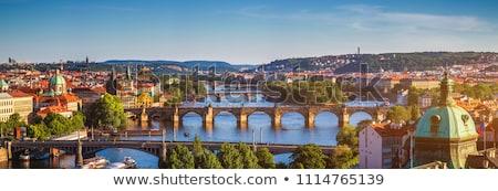 panorama · köprü · eski · şehir · bulutlu · gün - stok fotoğraf © milsiart