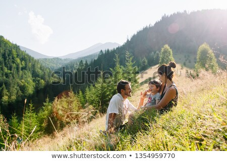 Children hiking in the park Stock photo © bluering