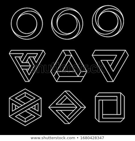 penrose triangle icon impossible triangle shape optical illusion vector illustration isolated on stock photo © said