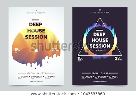 vector disco party flyer design on abstract color background ep stock photo © articular
