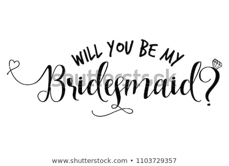 boda · novia · novio · anunciante · pie · junto - foto stock © bluering