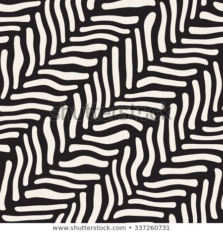 vector seamless black and white hand drawn pavement diagonal lines pattern stock photo © creatorsclub