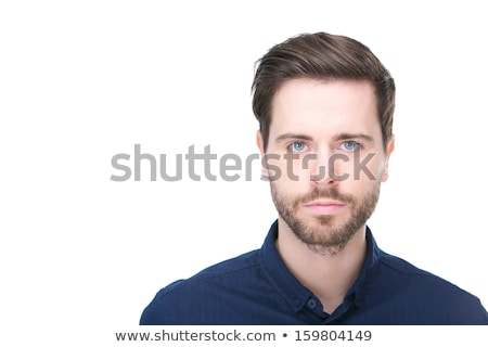 Close up portrait of a casual man staring at camera Stock photo © deandrobot