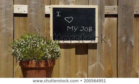 amor · meu · trabalho · homem · feliz - foto stock © andreypopov