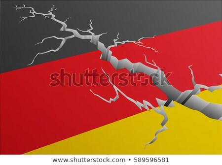 フラグ ドイツ 深い 亀裂 詳しい 実例 ストックフォト © unkreatives