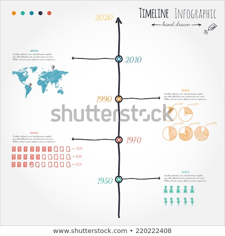 Infograph Brochure template with hand drawn sketches a Stock photo © DavidArts