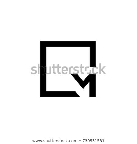 mektup · m · güneş · logo · vektör · ikon - stok fotoğraf © sdcrea