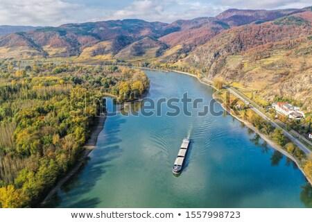 donau · rivier · verlagen · Oostenrijk · berg · kerk - stockfoto © lianem