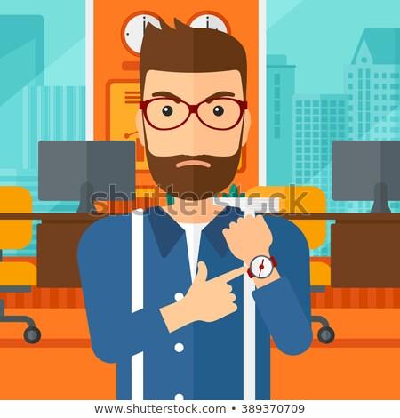 zły · pracodawca · wskazując · agresywny - zdjęcia stock © rastudio